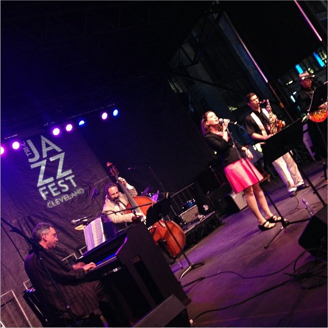 Performing at the 2015 JazzFest.